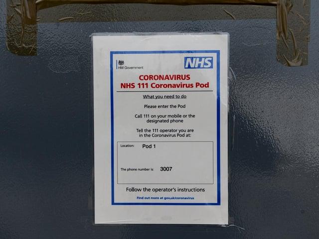 Coronavirus pods at Harrogate District Hospital. Photo: JPI Media