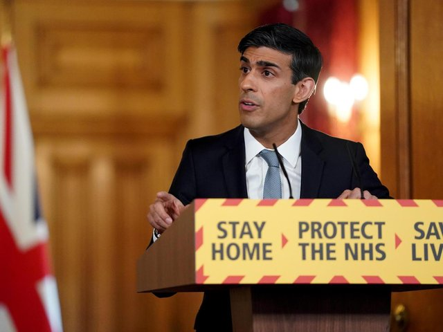 Chancellor of the Exchequer Rishi Sunak speaking during a media briefing in Downing Street, London, on coronavirus (COVID-19). Photo: PA