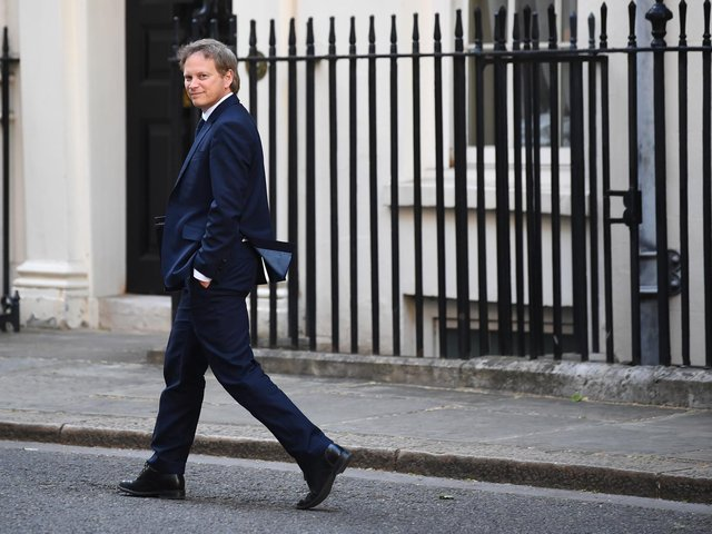 Transport Secretary Grant Shapps leaves Downing Street, London, after a media briefing on coronavirus (COVID-19). Photo: PA