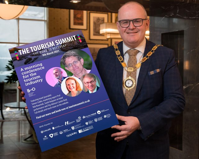 Stephen Meldrum, President of Northern Ireland Hotels Federation (NIHF), launches The Tourism Summit - The Road to Recovery