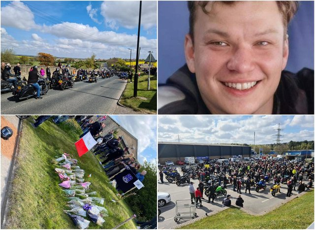 Bikers came together to pay tribute to Karol in Edlington.