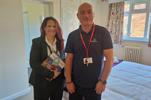 Andrea Hippsley, general manager of Mercure Doncaster Danum and Neil Keeton, Aspire to Be employer engagement officer.