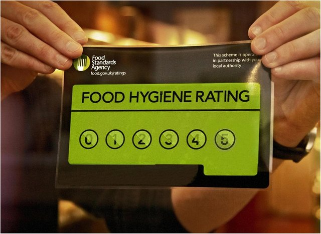 Doncaster's food hygiene ratings.