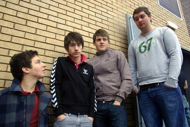 Arctic Monkeys' original line-up in 2005.