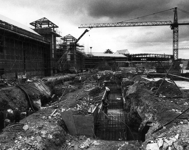 The Meadowhall site -construction work