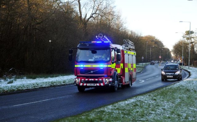 Stock picture - fire engine