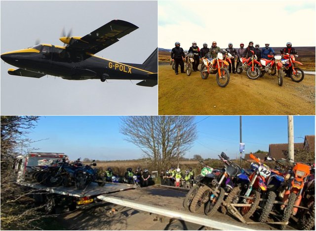 South Yorkshire Police seized a record number of off-road bikes in a weekend crackdown