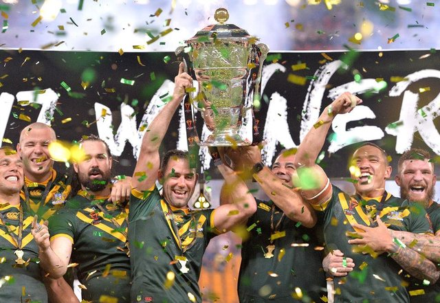 Australia won the 2017 Rugby League World Cup. Photo: Bradley Kanaris/Getty Images