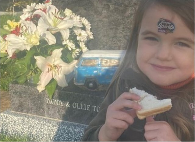 Mum Laura wants her wheelchair using daughter Beau to be able to properly visit her dad's grave,