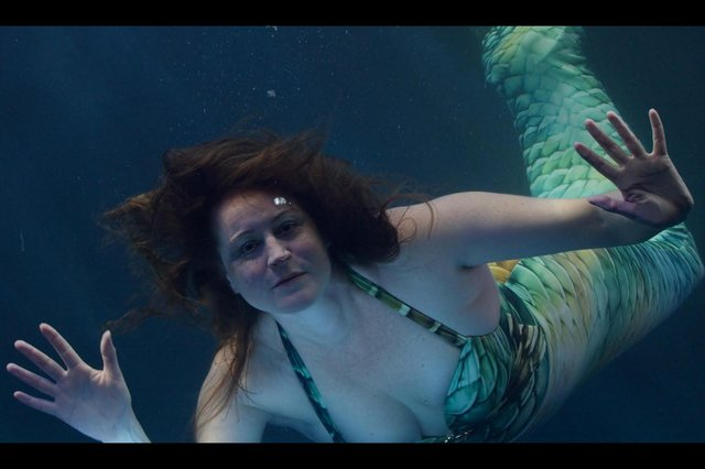 Capturing mermaids underwater movements as part of Human Aquarium, a project funded by the Arts Council.