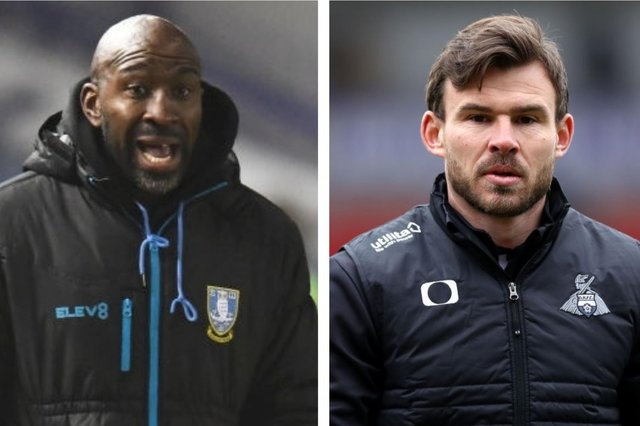 Darren Moore and Andy Butler. Photos: Getty Images
