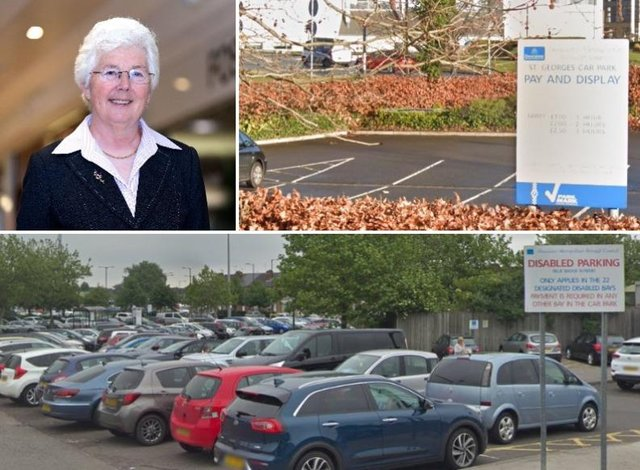 Mayor Ros Jones and town centre car parks