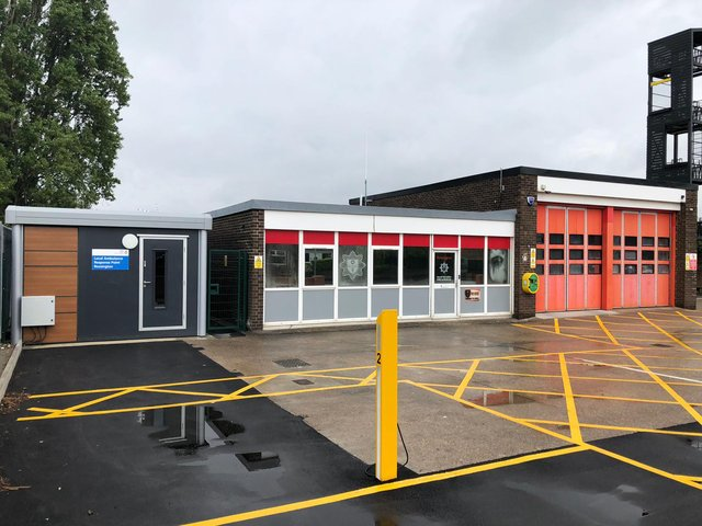 The new base at Rossington fire station