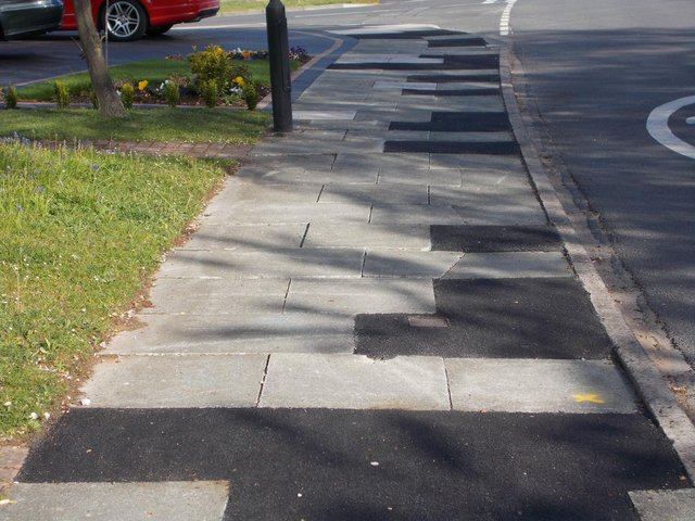 Concerns for pedestrians as pavements are uneven.