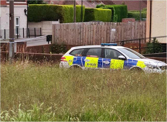 Police have sealed off parts of Skellow tonight.