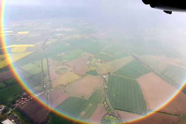 The circle rainbow above Doncaster