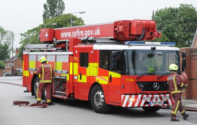 Firefighters in Doncaster