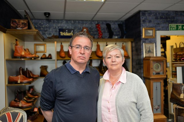 Antony and Ann Frith, pictured at The Shoe Healer on Scot Lane. Picture: NDFP-13-04-21-ShoeHealer 2-NMSY