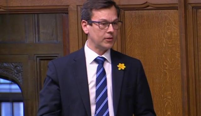 Don Valley MP Nick Fletcher speaking in Parliament