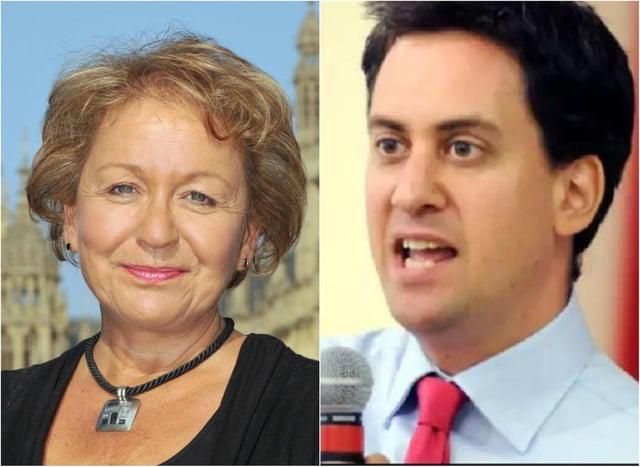 Dame Rosie Winterton and Ed Miliband.