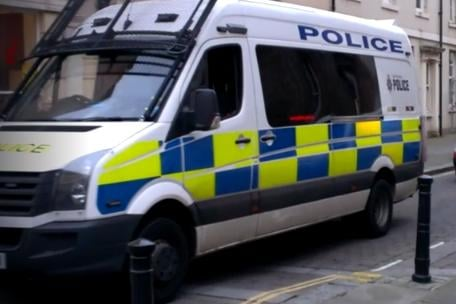 Stock picture of a police van