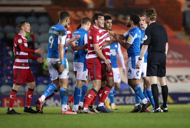 Things get a little heated as Rovers and Peterborough go head to head