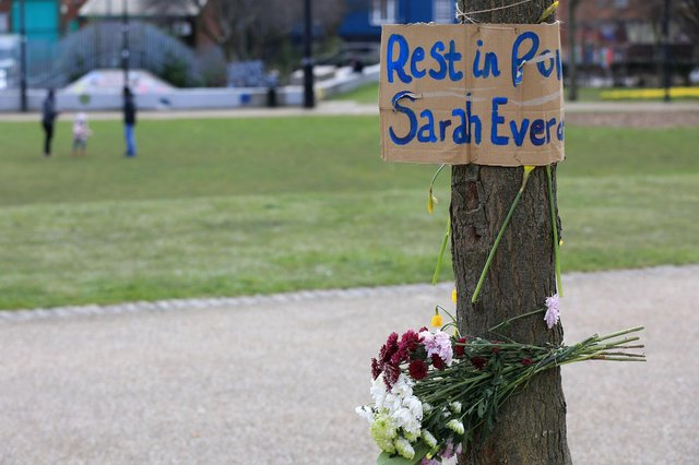 Tributes were paid to slain Sarah Everard at Devonshire Green, Sheffield.