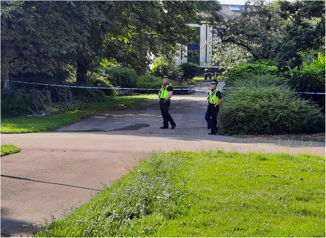 Elmfield Park was cordoned off by police after an attempted rape in broad daylight.