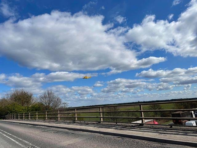 The air ambulance was scrambled to the scene