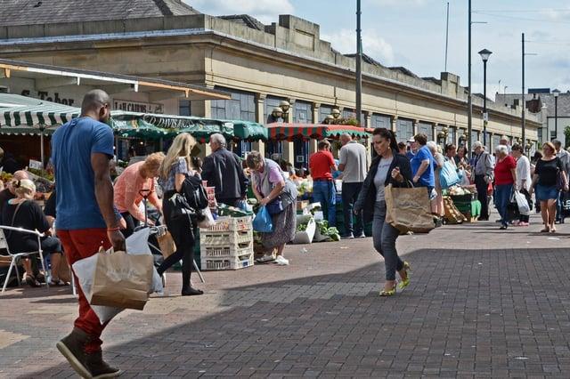 Doncaster Market Place, Doncaster. Picture: Marie Caley