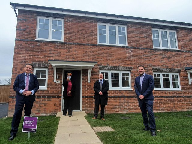 The new affordable homes at Furlong Park in Wheatley