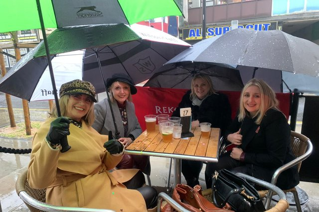 Braving the elements in Doncaster