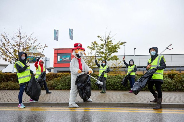 The management team from Lakeside Village are joining with partners from Club Doncaster, the two McDonalds in the area and Visit Doncaster to take part in The Big Lakeside Clean Up.