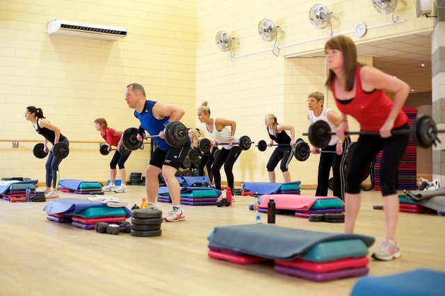 Exercise classes are set to re-start on Monday, This is a file picture taken before the pandemic