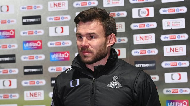 Andy Butler speaks to the media after his first game in charge of Rovers. Picture: Howard Roe/AHPIX