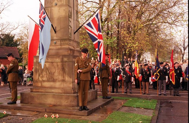 Remembrance Services from more than 20 years ago but who can you spot?