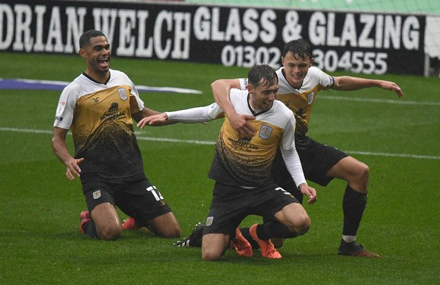 Crewe ran out 2-1 winners at the Keepmoat Stadium in October.