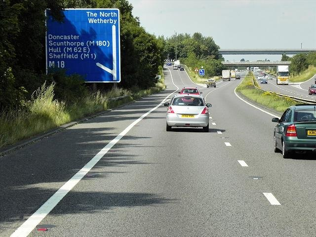 Approaching junction 35