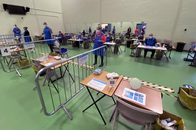 File picture of a Covid testing centre. Picture by FRANK REID