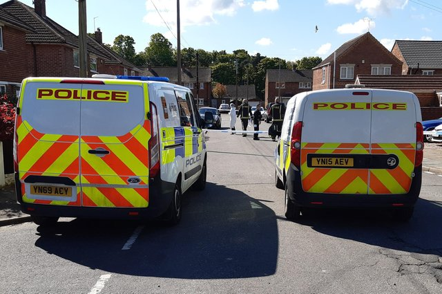 The scene of the police investigation in Cantley today
