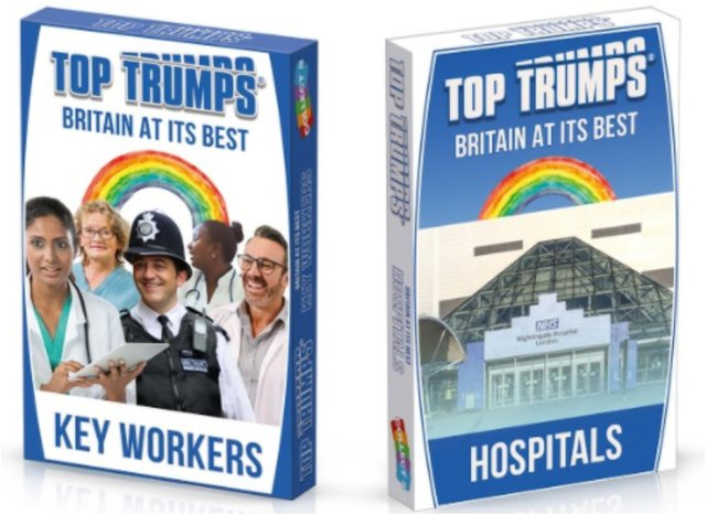 You can now get a Top Trumps key worker pack.