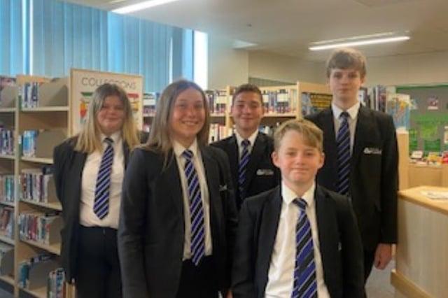 Pupils pictured met with the IQM assessor at de Warenne Academy – Rosie, Megan, Sam, Tristan, Connor