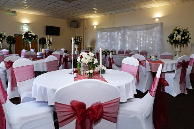 A wedding day setting inside Rossington Miners Welfare. Picture: NDFP-29-06-21-MinersWelfare 7-NMSY