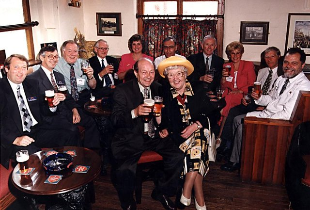 Mayoress of Doncaster Dorothy Layton visits Wards Brewery in 1996