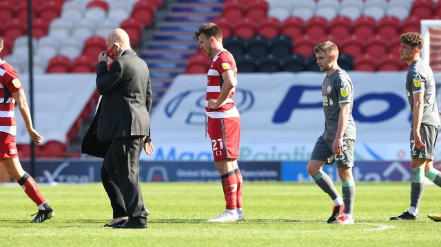 Andy Butler shows his disappointment after the defeat to Fleetwood Town. Picture: Howard Roe/AHPIX