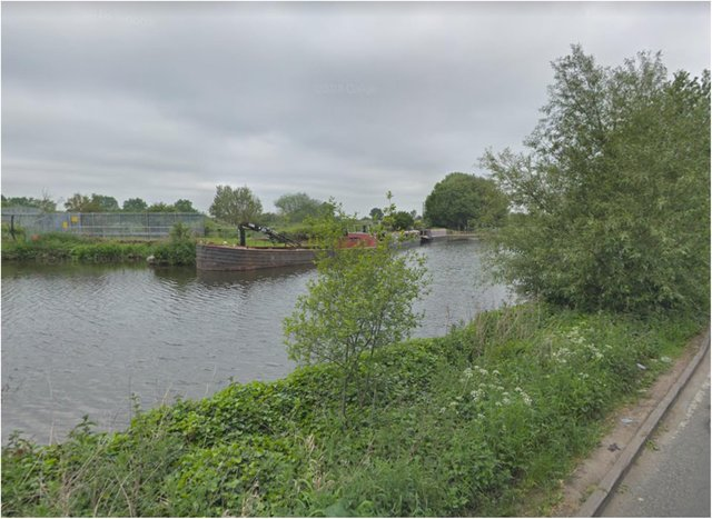 The dead dog was pulled from the canal at Long Sandall.