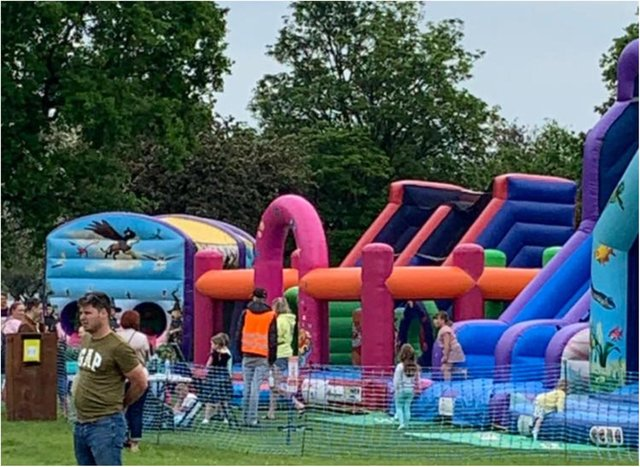 An inflatable play zone is coming to Sandall Park this weekend.