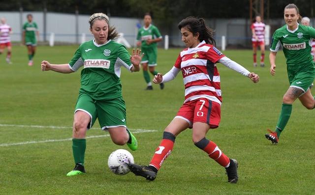 Nadia Khan in action for Belles