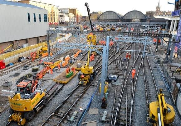 The work underway at King's Cross