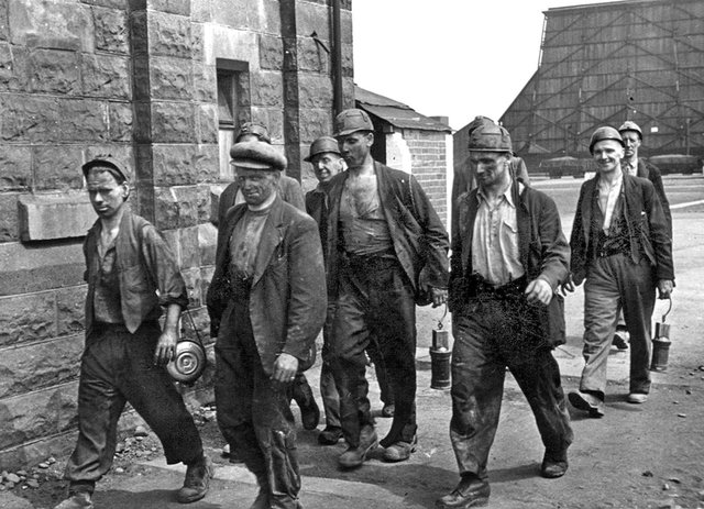 Miners at Markham Main colliery
